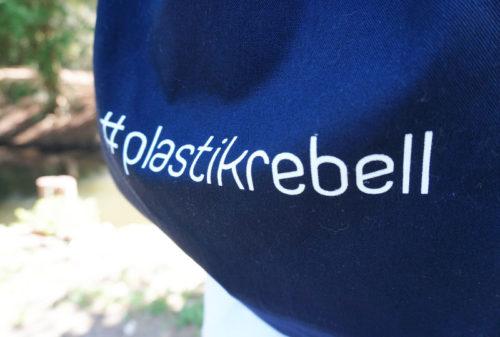 Plastikrebell Baumwollbeutel dunkelblau - 5