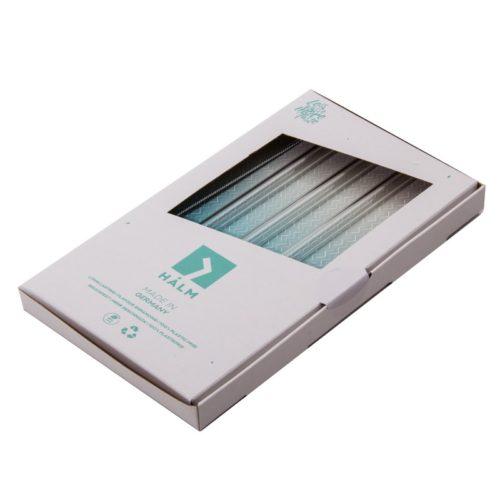Halm Glasstrohhalme in Verpackung