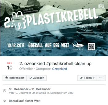 Facebook-Veranstaltung plastikrebell Ozeankind