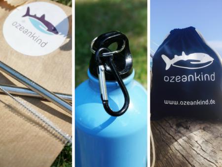 Plastikmüll vermeiden Weniger Plastik im Urlaub - mit diesem Ozeankind-Set aus Strohhalm, Beutel und Flasche