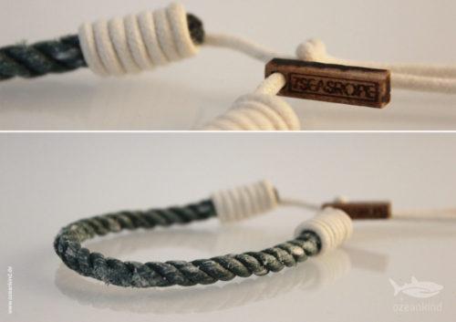 aus Plastikmüll gefertigtes Armband