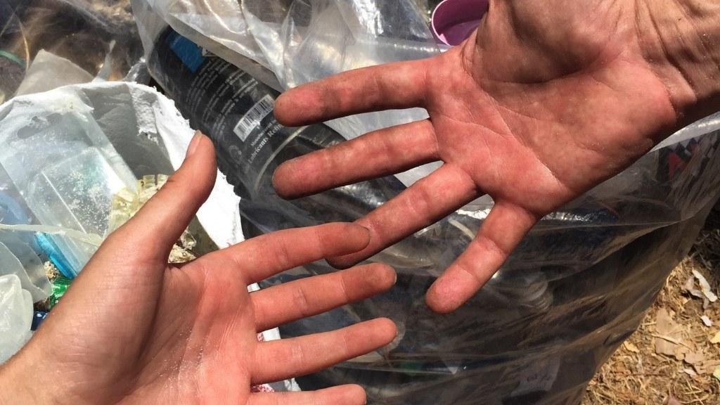 Für den guten Zweck Spende Plastikmüll